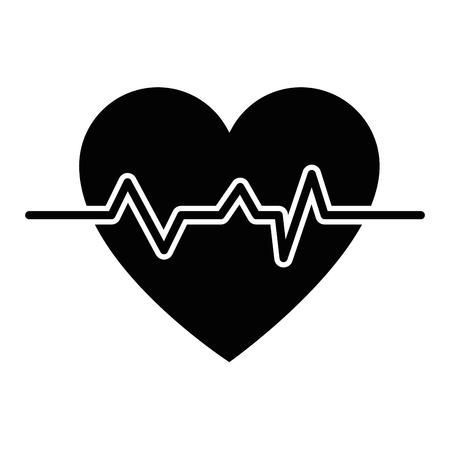 심장 및 심장 아이콘 벡터 일러스트 그래픽 디자인