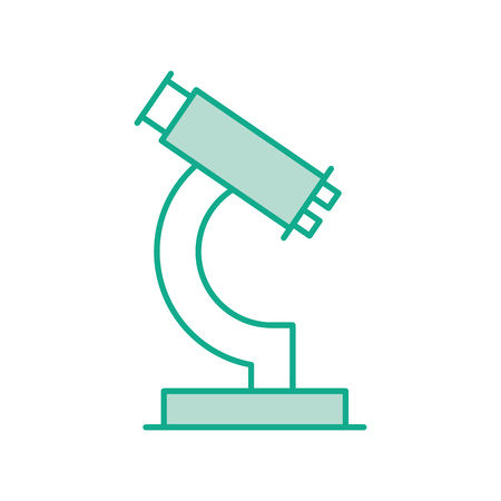 eyepiece: laboratory microscope isolated icon vector illustration design