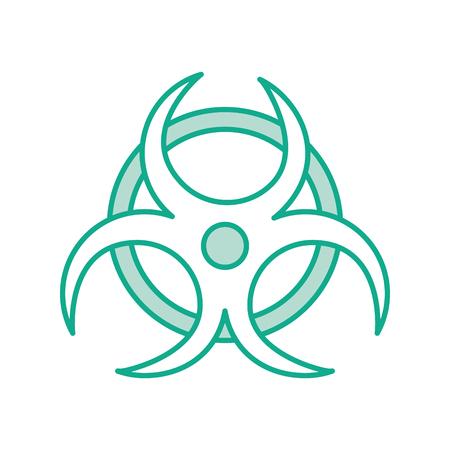 atomic caution signal icon vector illustration design 向量圖像