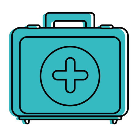 First aid kit icon vector illustration graphic design 向量圖像
