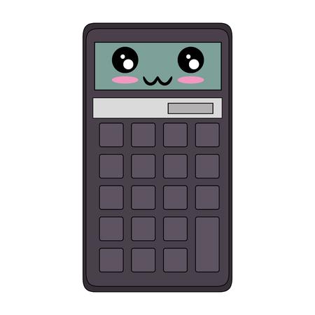 계산기 수학 장치 만화 아이콘 벡터 일러스트 그래픽 디자인