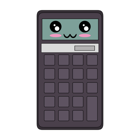 Calculator math device cartoon icon vector illustration graphic design Ilustrace