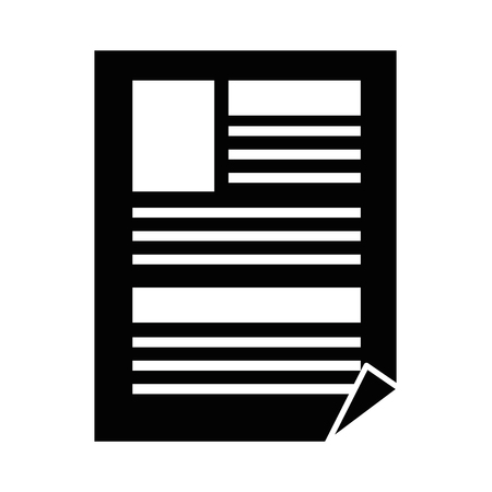 Document with bent corner icon vector illustration graphic design Illusztráció