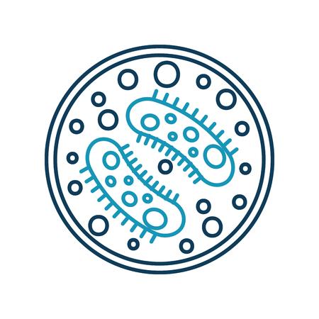 Studie van bacterie pictogram vector illustratie ontwerp Stockfoto - 83835582