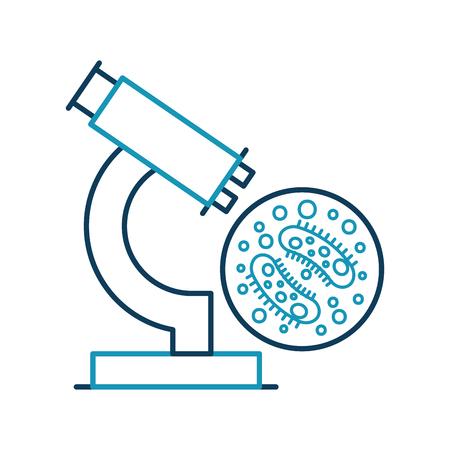 細菌顕微鏡ベクトル イラスト デザインの研究