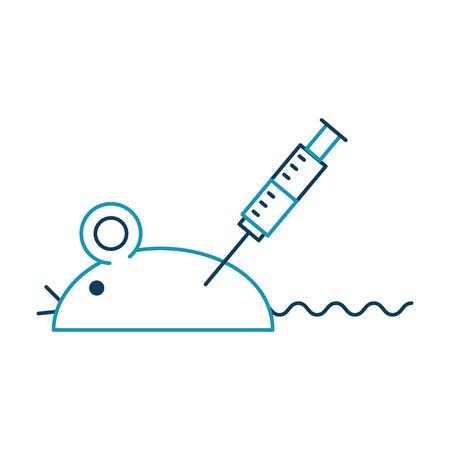 사출 벡터 일러스트 레이션 디자인 실험실 마우스