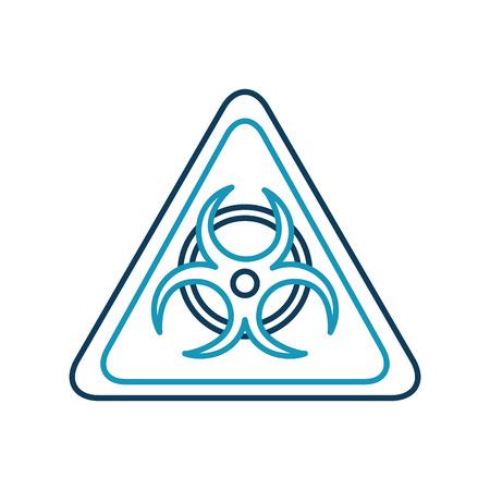 atomic caution signal icon vector illustration design Ilustrace