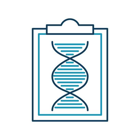 paper clipboard with dna molecule vector illustration design Illustration