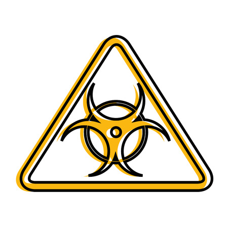 Biohazard danger symbol icon vector illustration graphic design