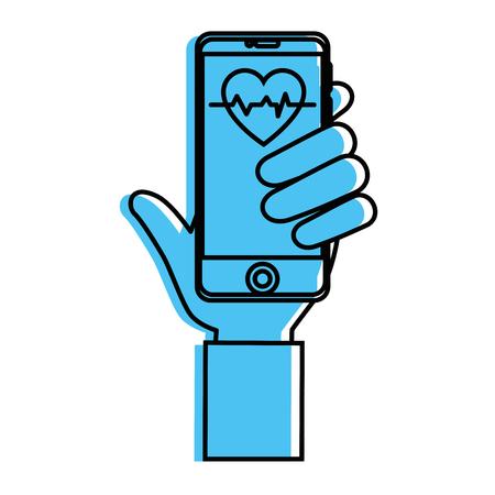 Smartphone application médicale icône illustration vectorielle design graphique Banque d'images - 83835711