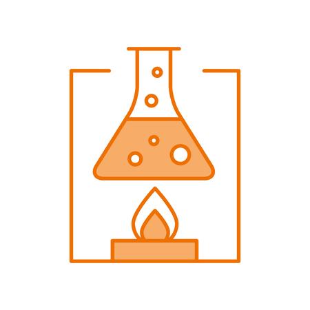 laboratory tube test with Burner base vector illustration design Illustration