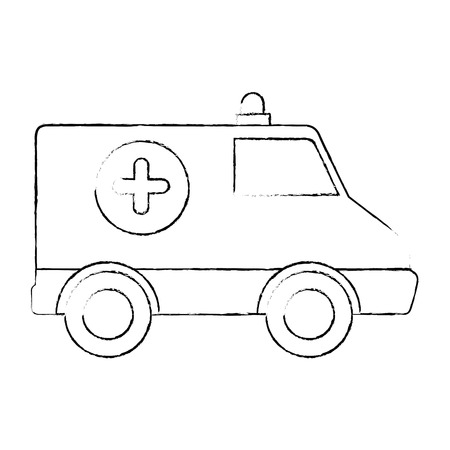 Ambulance medical vehicle icon vector illustration graphic design