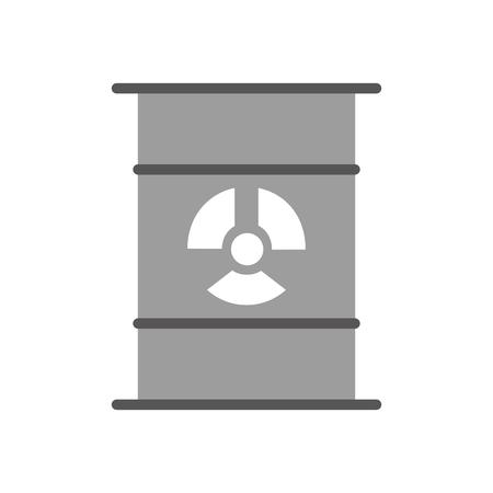 핵 배럴 격리 아이콘 벡터 일러스트 디자인