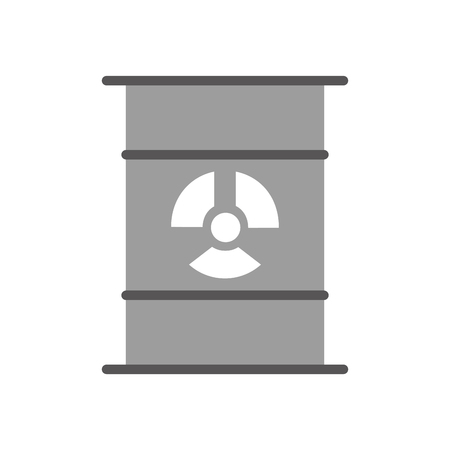 toxic substance: nuclear barrel isolated icon vector illustration design