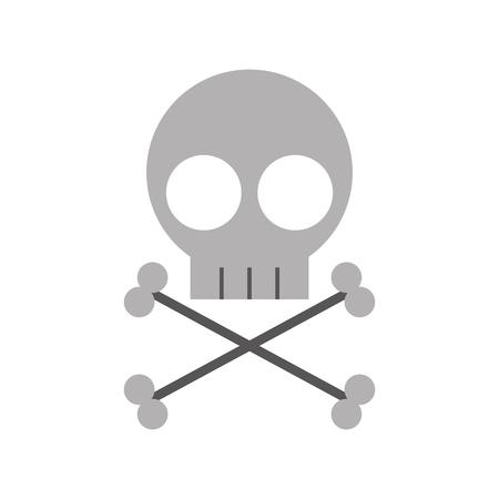 Diseño de ilustración de vector de icono de signo de peligro de cráneo Foto de archivo - 83835806