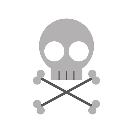 skull danger sign icon vector illustration design Stock fotó - 83835806
