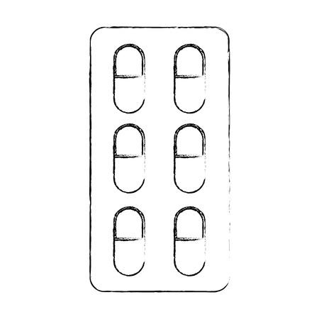 Vector de illustratie grafisch ontwerp van geneeskundepillen geïsoleerd pictogram Stockfoto - 83835807