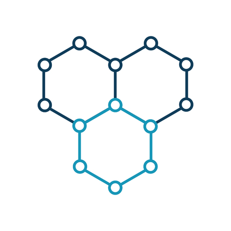 structure molecular isolated icon vector illustration design