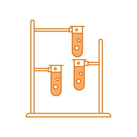 Labor-Rohr-Test mit Brenner Basis Vektor-Illustration Design Standard-Bild - 83835801