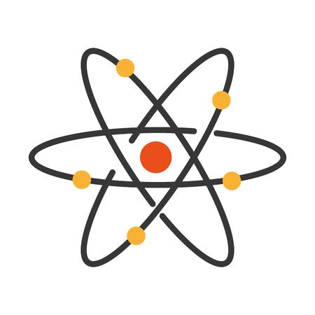 Atom-Molekül isoliert Symbol Vektor-Illustration, Design, Standard-Bild - 83836549