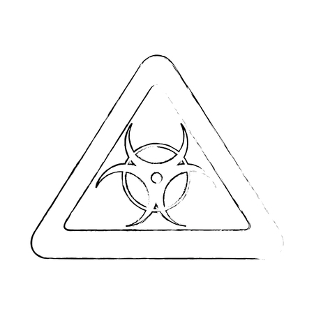 Biohazard danger symbol icon vector illustration graphic design