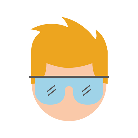 Laboratorium wetenschapper avatar karakter vector illustratie ontwerp