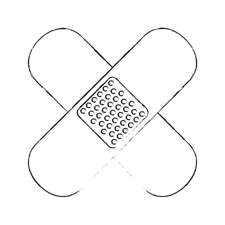 Het verband geïsoleerde grafische ontwerp van de pictogram vectorillustratie