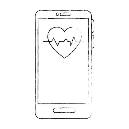 Smartphone application médicale icône illustration vectorielle design graphique Banque d'images - 83835880