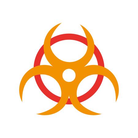 atomic caution signaal icoon vector illustratie ontwerp
