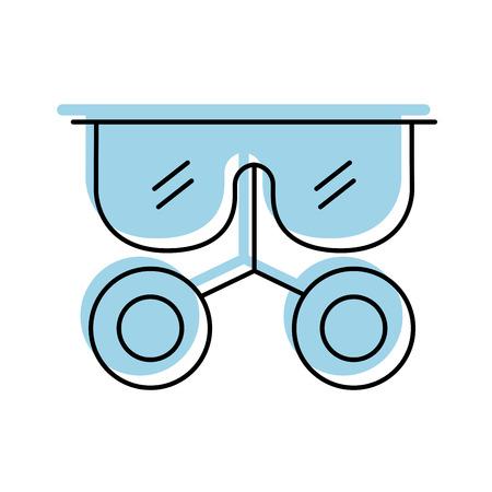 Gafas de laboratorio aislado icono diseño de ilustración vectorial Foto de archivo - 83835884