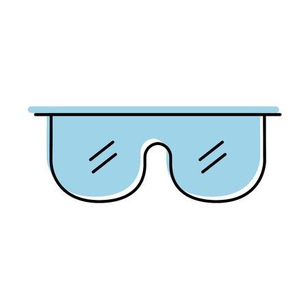 Gafas de laboratorio aislado icono diseño de ilustración vectorial Foto de archivo - 83835886