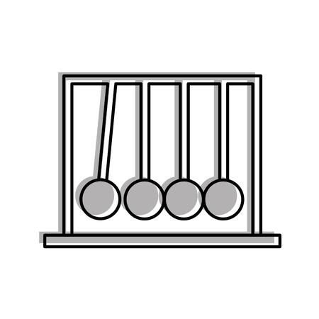 Newton pendulum isolated icon vector illustration design 向量圖像