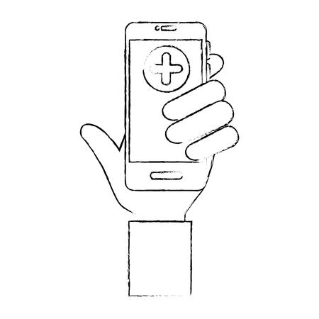 Smartphone smartphone médicale icône illustration vectorielle conception graphique Banque d'images - 83836241