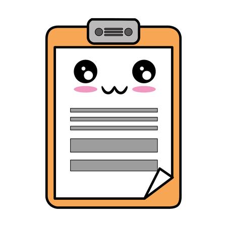 checklist: paper clipboard vector illustration design