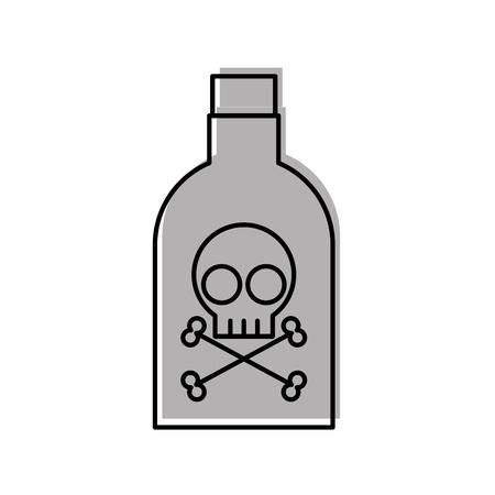 Botella de veneno con diseño de ilustración vectorial de cráneo Foto de archivo - 83836301