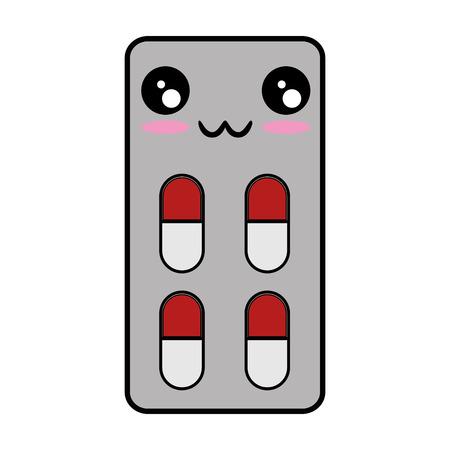 Medicine pills isolated cartoon vector illustration graphic design