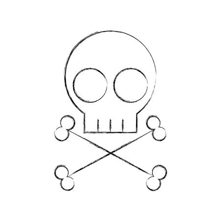 Diseño de ilustración de vector de icono de signo de peligro de cráneo Foto de archivo - 83836469