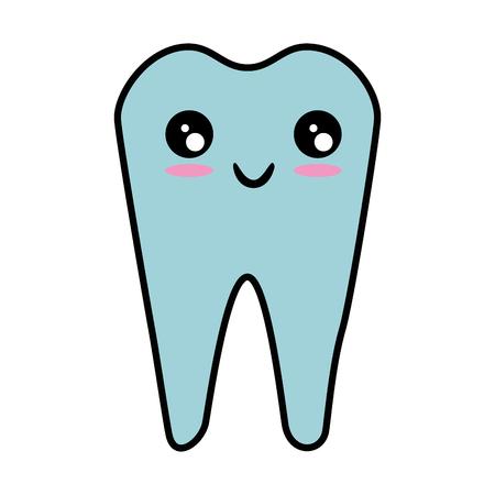 Dental care symbol cartoon vector illustration graphic design Standard-Bild - 83836483