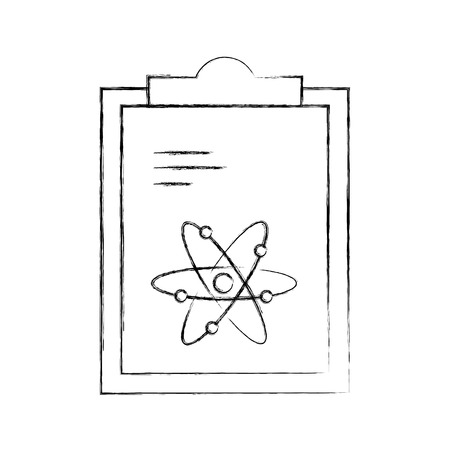 paper clipboard with atom vector illustration design