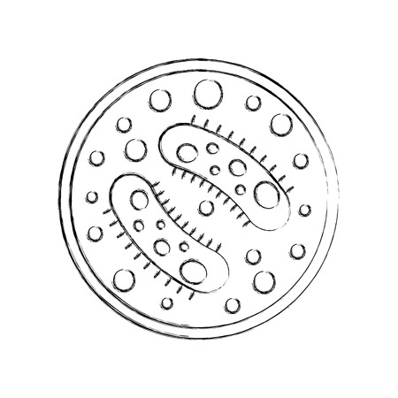 Study of bacteria icon vector illustration design
