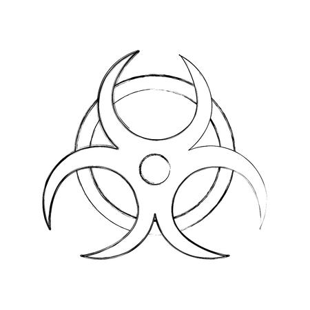 원자력주의 신호 아이콘 벡터 일러스트 디자인 일러스트