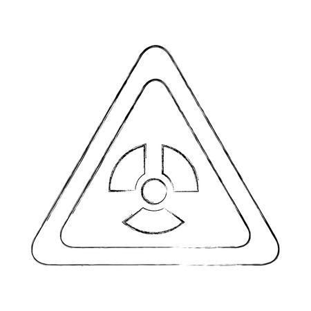 atomic caution signal icon vector illustration design Stock fotó - 83829540