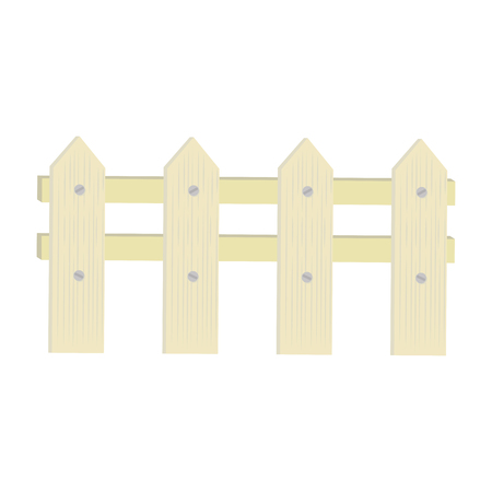 Wooden fence gardening icon vector illustration graphic design