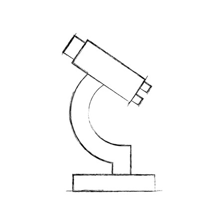 laboratory microscope isolated icon vector illustration design