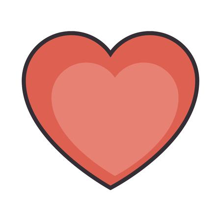 Corazón y el icono de amor ilustración vectorial de diseño gráfico Foto de archivo - 83829111