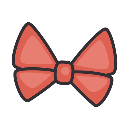 Decorative bow isolated icon vector illustration graphic design