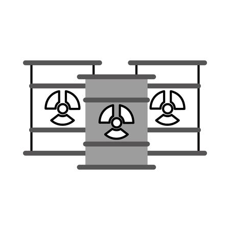 barils nucléaires icône isolé illustration vectorielle conception Vecteurs