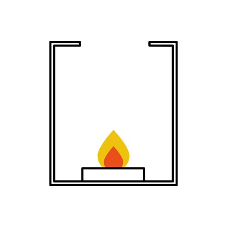 burner laboratory isolated icon vector illustration design Illustration