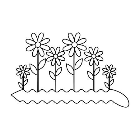 Beau tournesol jardinage icône illustration vectorielle conception graphique Banque d'images - 83829022