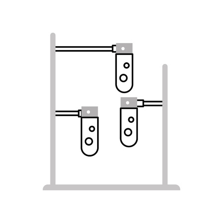 burner laboratory isolated icon vector illustration design 向量圖像